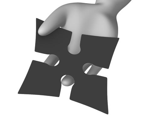 shuriken: 3d render of cartoon character with shuriken