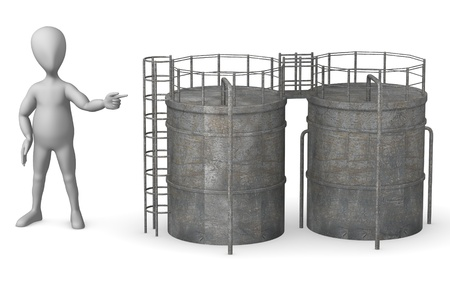 show plant: 3d render of cartoon character with silo