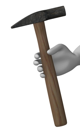 smith: 3d render of cartoon character with smith hammer