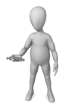 tommy: 3d render of cartoon character with spanner