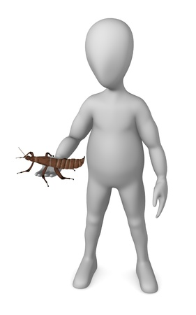 spectre: 3d render of cartoon character with spectre insect Stock Photo