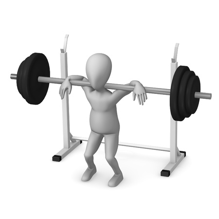 3d render of cartoon character making excercise Stock Photo - 12970307