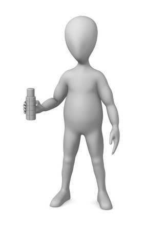 3d render of cartoon character with termobottle photo