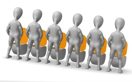 defecate: Rendering 3D di personaggio dei cartoni animati sul WC