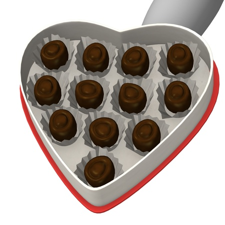 3d render of cartoon character with chocolates Stock Photo - 12967456