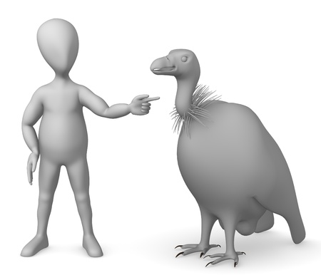griffon: 3d render of cartoon character with vulture