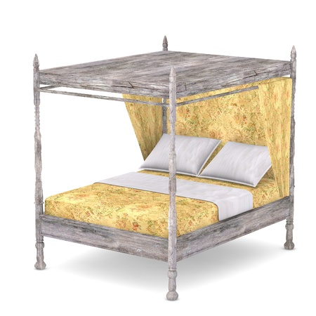 matress: 3d render of antique bed