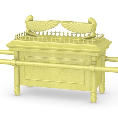 bible ten commandments: 3d render of ark of the covenant