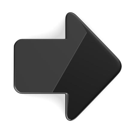 Rendu 3D de la flèche dessinée Banque d'images - 13715881