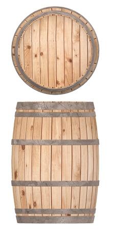 3d render of wooden barrel Stock Photo