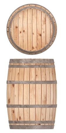 oak barrel: 3d render of wooden barrel Stock Photo