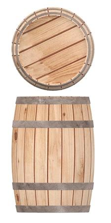 3d render of wooden barrel photo