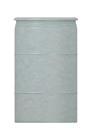 3d render of metal barrel photo
