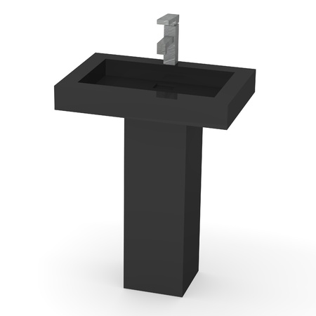 basin: 3d render of modern basin