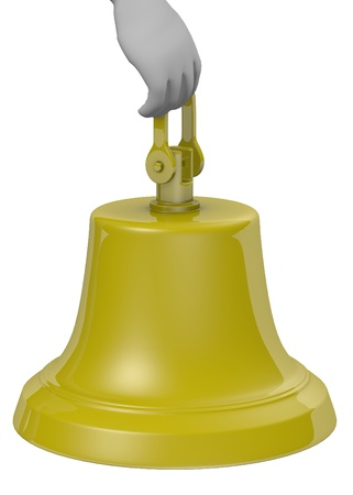 stockie: 3d render of cartoon character with bell
