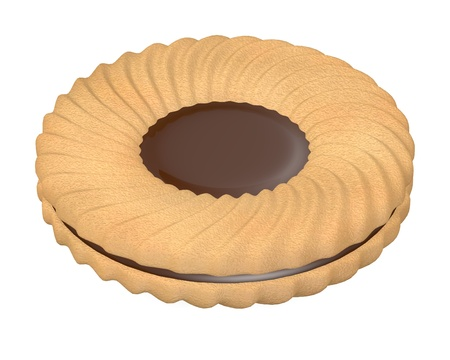 3d render of biscuit food photo