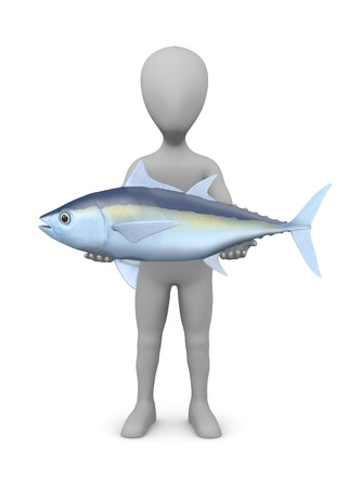 stockie: 3d render of cartoon character with tuna