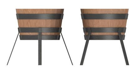 metalwork: 3d render of blacksmith bucket
