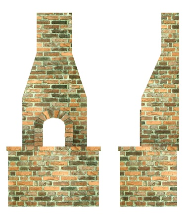furnace: 3d render of blacksmith furnace