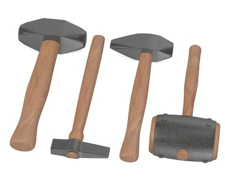 3d render of  blacksmith tools Stock Photo - 13729392
