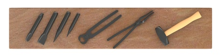metalwork: 3d render of  blacksmith tools