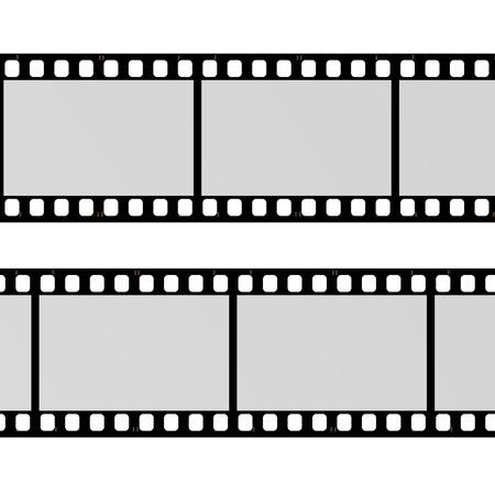 3d render of blank film photo