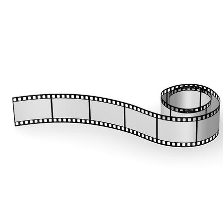 空白のフィルムの 3 d レンダリング