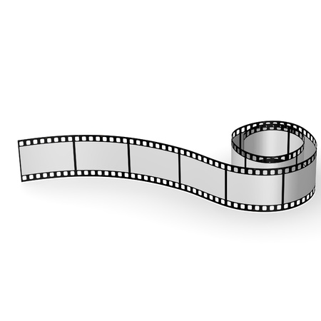 3d render of blank film photo