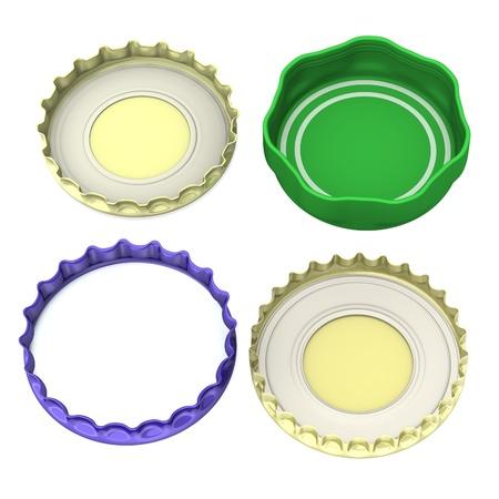 lids: 3d render of bottle lids