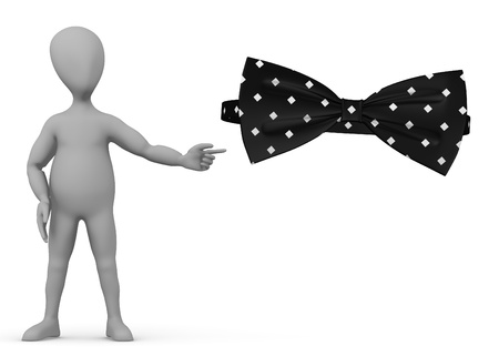 bowtie: 3d render of cartoon character with bowtie