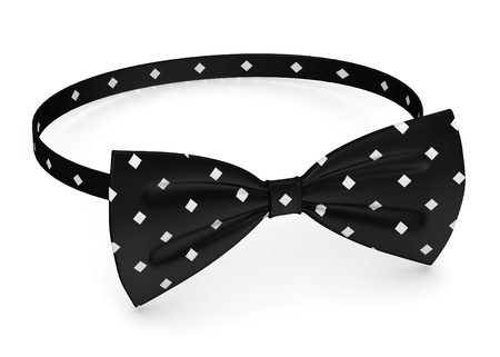 3d render of bow tie photo