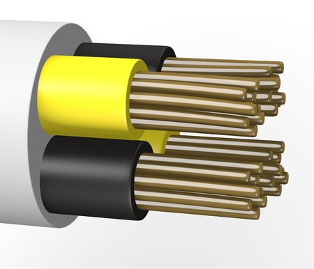 3d render of electric cable photo