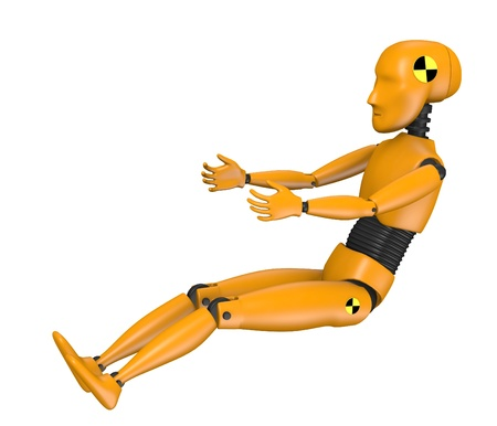 3d render of car test dummy - child Stock Photo - 13727620