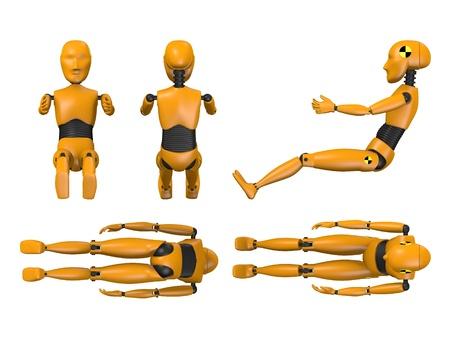 3d render of car test dummy - child photo