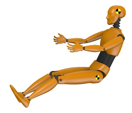3d render of car test dummy photo