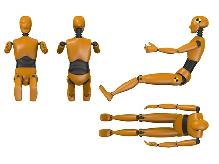 3d render of car test dummy Stock Photo - 13729249