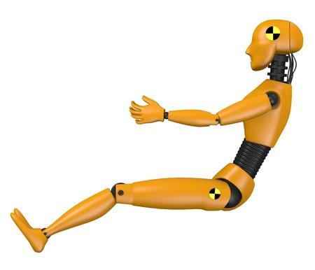 3d render of car test dummy - woman