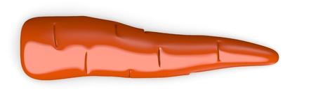 cartoon carrot: 3d render of cartoon carrot Stock Photo