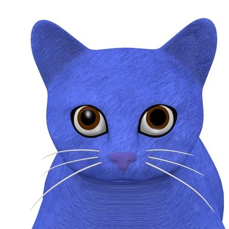 cartoon poes: 3D render van cartoon kat