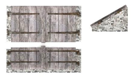 3d render of cellar door photo