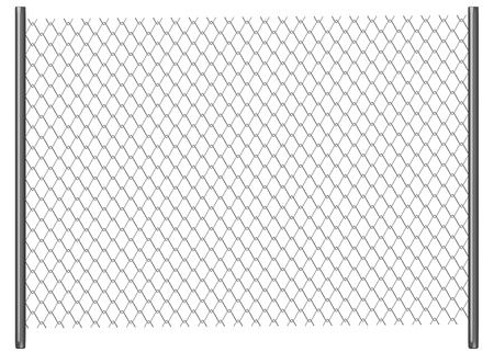 3d render of chain fence photo