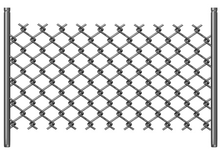 chain fence: 3d render of chain fence