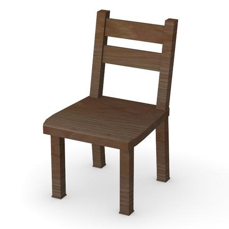 chair cartoon: 3d render of modern chair Stock Photo