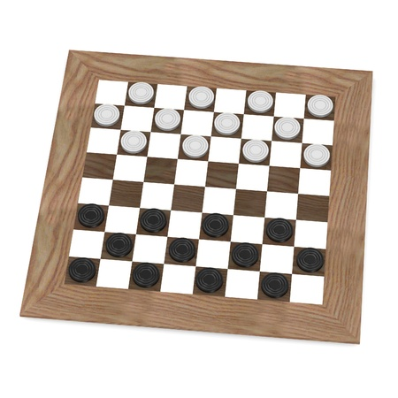 3d render of checkers game Stock Photo - 13729607