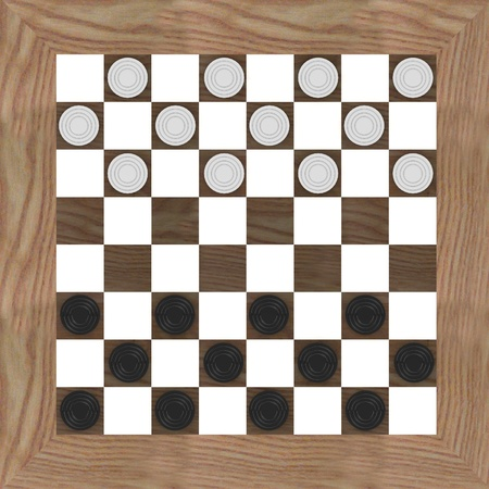 3d render of checkers game photo