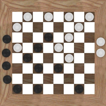 3d render of checkers game Stock Photo - 13730088
