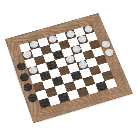 3d render of checkers game Stock Photo - 13729393