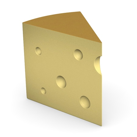 3d render of cheese piece photo