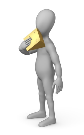goat cheese: 3d render of cartoon character with cheese
