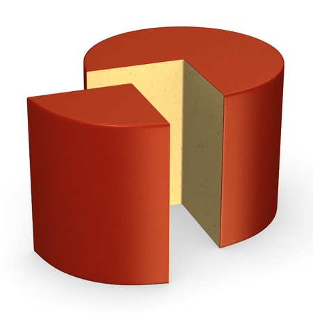 3d render of cheese piece Stock Photo - 13727568